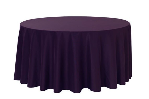 120 inch round polyester tablecloth eggplant wedding for 120 round table cloths