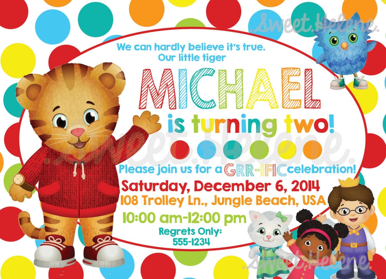 Daniel Tiger Birthday Invitation Daniel Tiger's