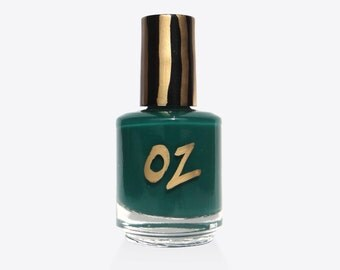 Nail Polish, Handmade Nail Polish, 15ml, Emerald Green, Oz, hand mixed nail polish, green nail polish, emerald nail polish, nail lacquer