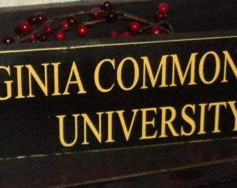 VCU Rams Virginia Commonwealth University Wooden Wall Sign