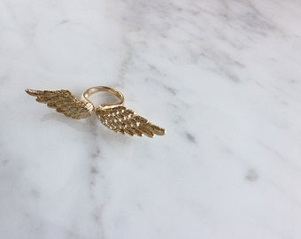 Angel Wing Ring Gold