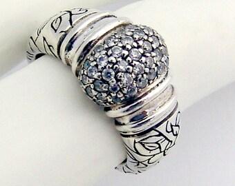 Sterling Silver Ring Zirconium