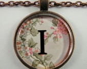Special Order for Caitlin -- Spring pattern Personalized Letter Necklaces, Wedding Necklaces, Friendship