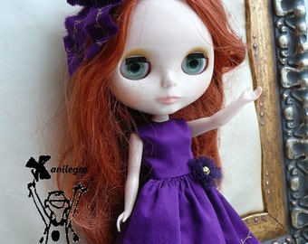 dress purple doll blythe, pullip and similar sizes