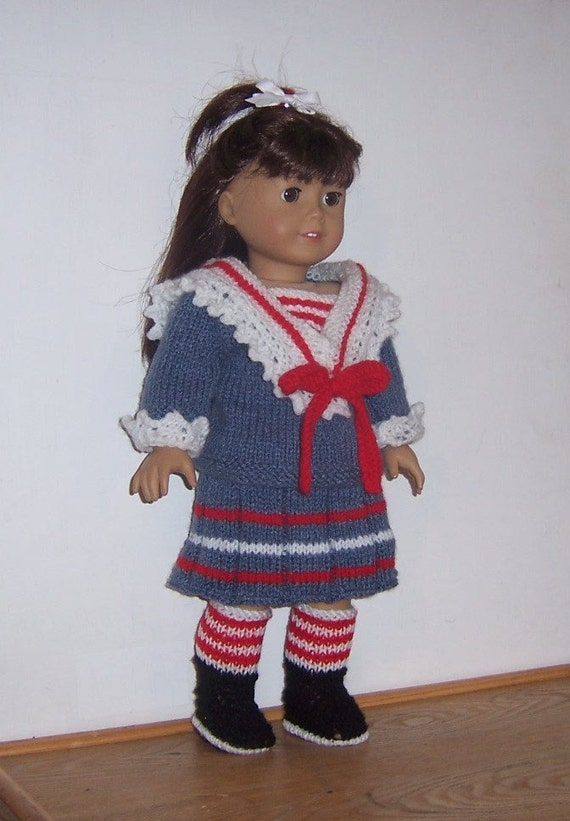 Knitting Patterns For Our Generation Dolls : dolls clothes PDF knitting pattern, fits American Girl ...