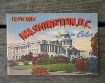 Washington DC Vintage Souvenir Booklet