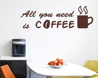 All You Need Is Coffee Wall Stickers