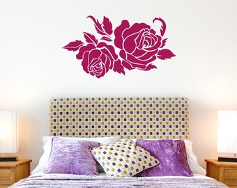 Two Roses Wall Sticker