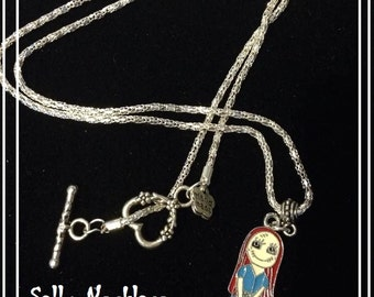 Handmade Sally from Nightmare before christmas necklace