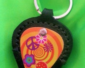 Guitar Pick Holder with Hippie Pick