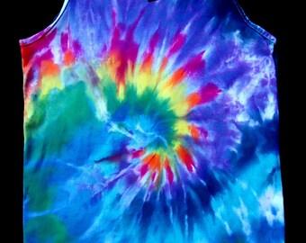 Spiral Tie Dye Tank Top Shirt