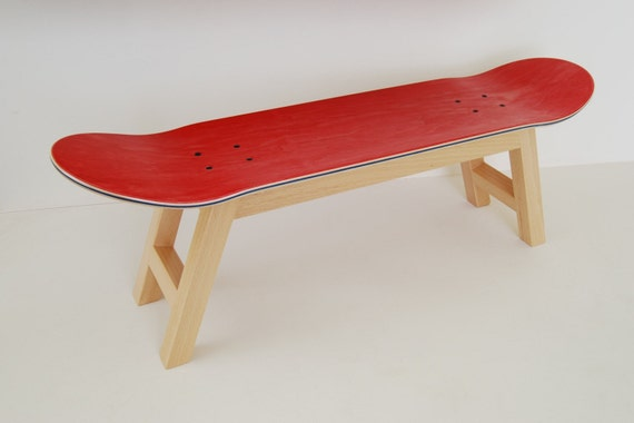 skateboard bed tray bedroom stool decoration red by skatehome
