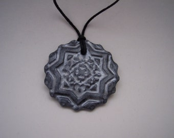 Pendant made with polymer clay
