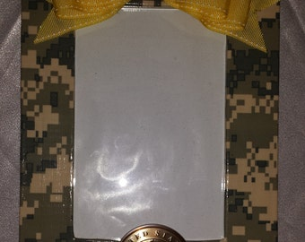 Handmade Army Photo Frame