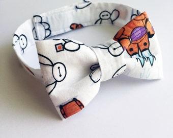 Big Hero 6 Baymax inspired pre tied bow tie, toddler, child, photo prop, baby shower gift, Children Accessories