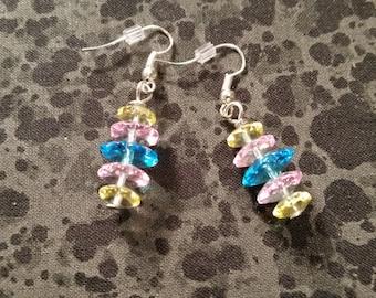 Pastel Glass Bead Earrings