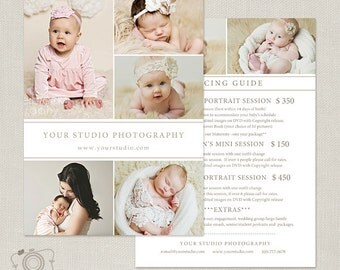 Photography Package Pricing List Template - Photography Pricing Guide - Price List - Price Sheet -032 - C254, INSTANT DOWNLOAD