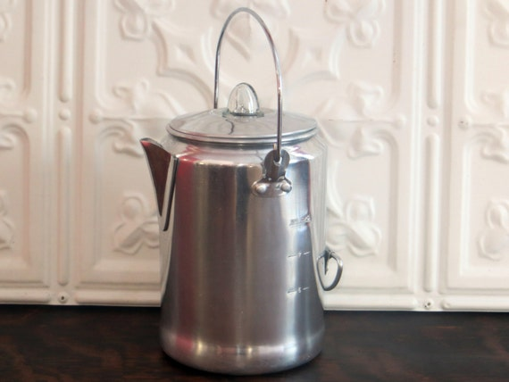 Vintage Coleman Coffee Pot Aluminum Coffee Pot Coffee
