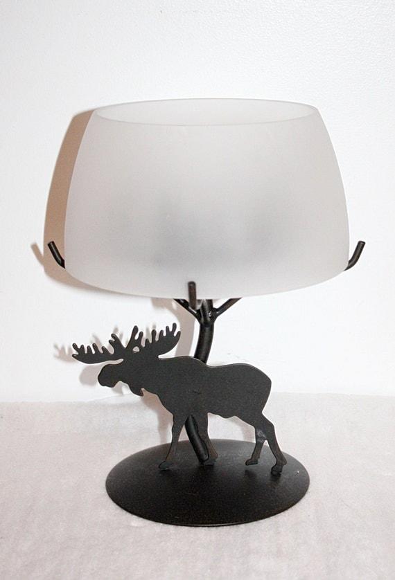 Vintage Votive Candle Light Lamp Metal Moose by ...