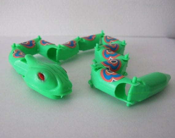 Snake Toys For Boys : Vintage s made in hong kong fun green by coolagainvintage