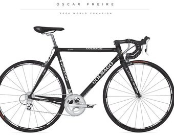 Colnago Bike poster of the Oscar Freire 2004 World championships