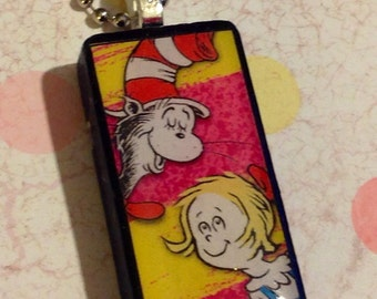 Popular items for seussical on etsy for Cat in the hat jewelry