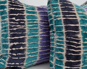 Teal Velvet Pillow Cover,Aqua Velvet Pillow Cover,Purple Pillow Cover,Geometric Velvet Pillow Cover