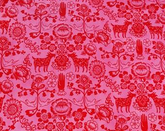 Alexander Henry - Las Golondrinas - #7921C Hot Pink & Red
