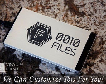 External Hard drive vinyl decal label sticker in binary code for 2.5 and 3.5 enclosures 2426
