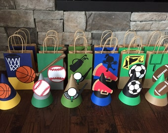 Sports Themed Combo Pack...Party Hats and Loot Bags!
