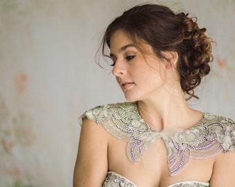 Wedding shoulder necklace, bridal bolero