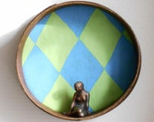 Vintage wooden sieve, design wall decor, wall ornament display