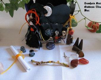 Samhain/Dark Goddess Altar box OoAK.   PRICE REDUCED!!!!!