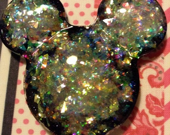 Mickey Mouse Balloon Resin Pendant or Keychain