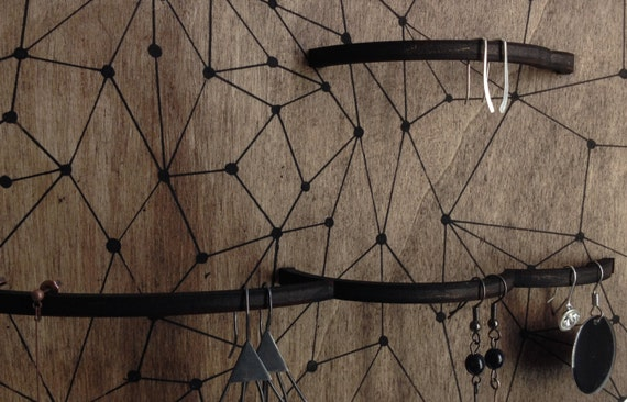 1 wall jewelry holder graphic decor jewelry display - Porte bijoux mural ikea ...