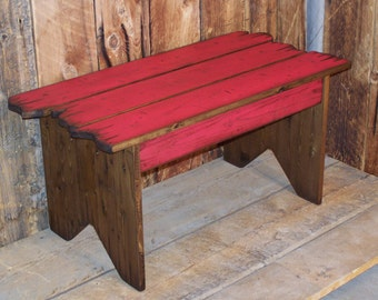 "36"" length rustic barnwood bench. Great for the mudroom, closet, foot of the bed, entry way or a kid's room"