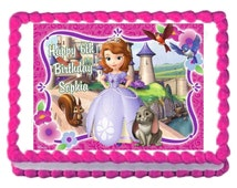Sofia the First edible cake image frosting sheet cake topper