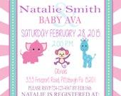 Circus Baby Shower Invitation Printable Digital File