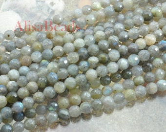 Labradorite,faceted round,beads,6mm,15 inches