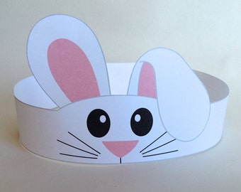 Bunny Paper Crown - Printable