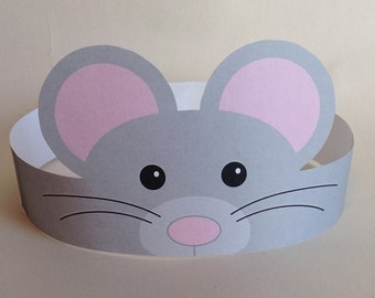 Mouse Paper Crown - Printable