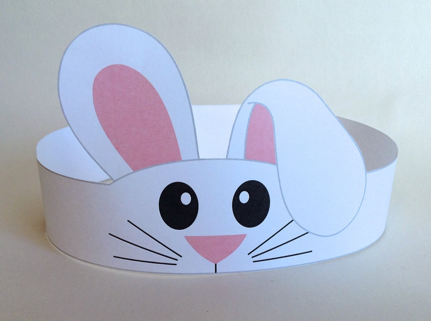 Bunny paper crown printable for Art and craft crown