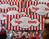 hugs & kisses valentines day gift tag printable