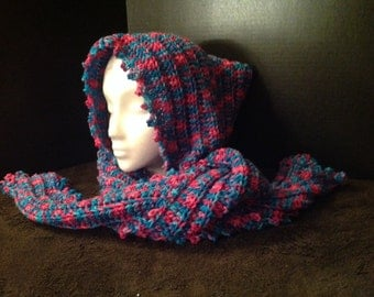 Super Warm Double Stranded Hoodie Scarf