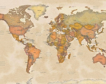 World Watercolor Map - International Version