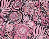 Half Yard - 1/2 Yard of Pagoda Flower in Black - CHINOISERIE CHIC by Dena Fishbein for Free Spirit Fabrics
