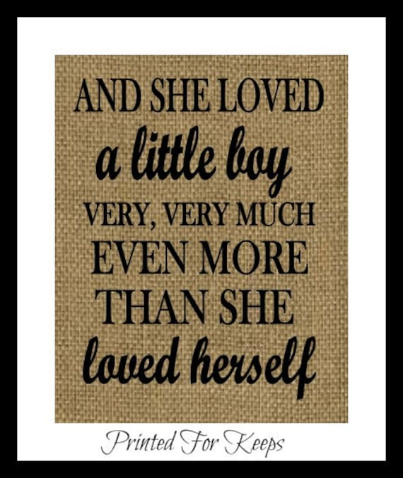 Son Print And She Loved A Little Boy Veryvery By