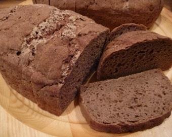 """Sourdough """"Rye"""" Bread (Gluten-free, Soy-free, Vegan)"""