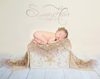 Golden Newborn Crown Newborn Photo Prop Boy Gold Crown Girl Gold Crown