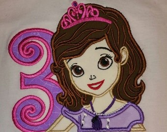 Sofia the First Numbered Onesie or Shirt 1-7